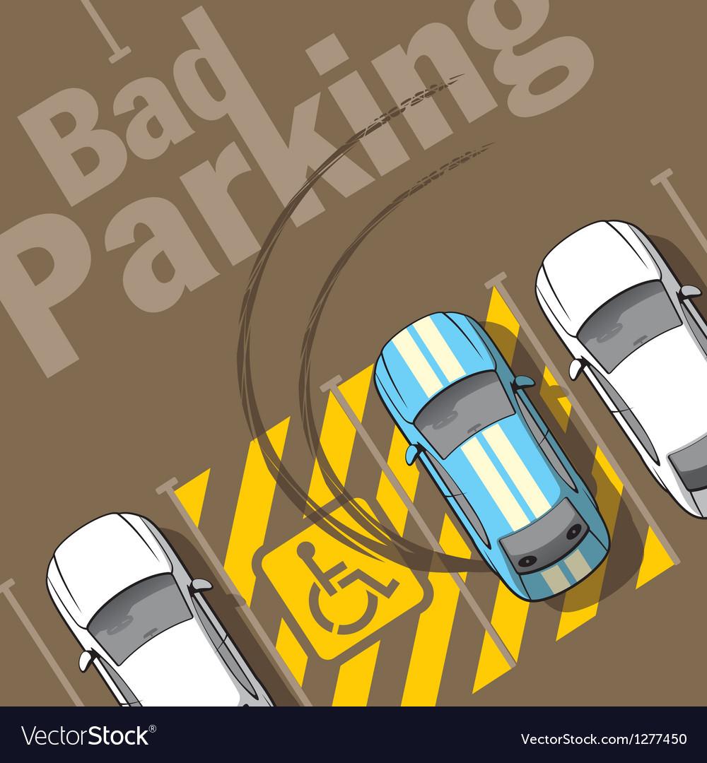 Bad parking vector | Price: 1 Credit (USD $1)