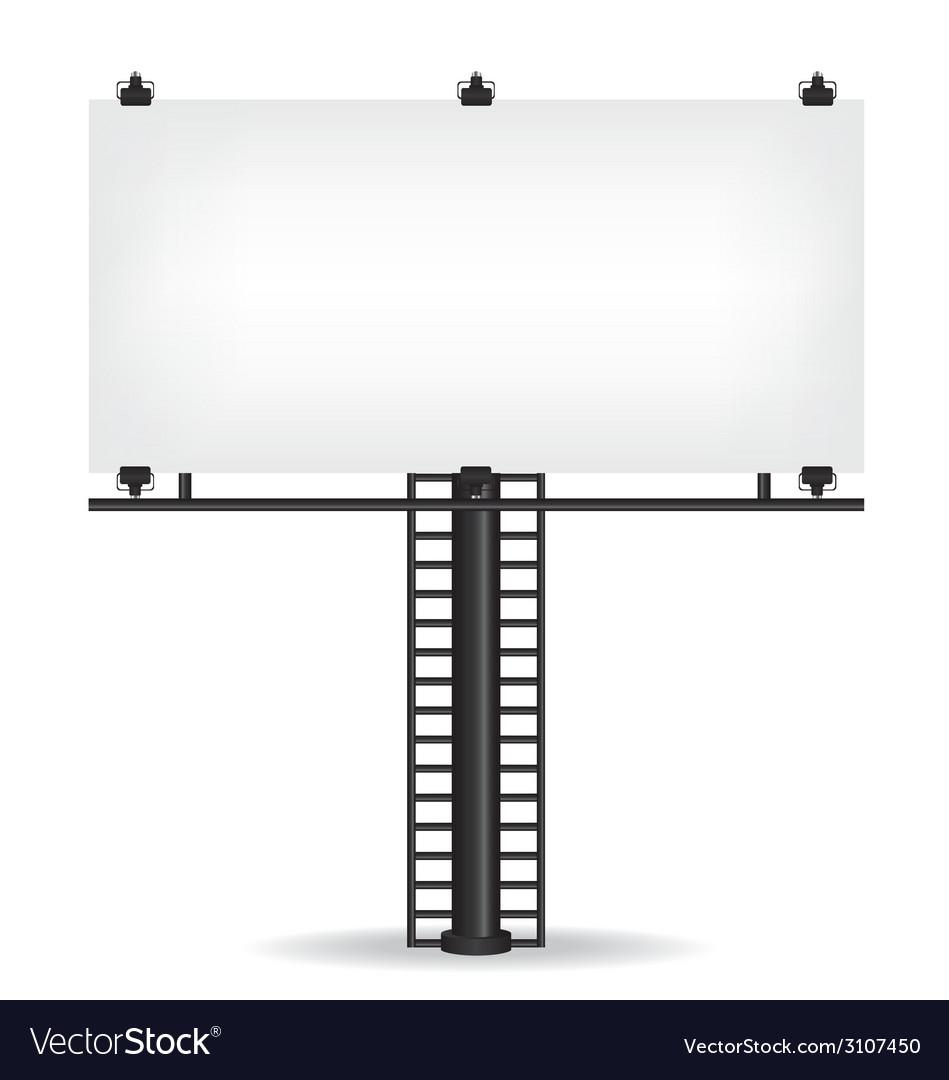 Blank billboard vector | Price: 1 Credit (USD $1)