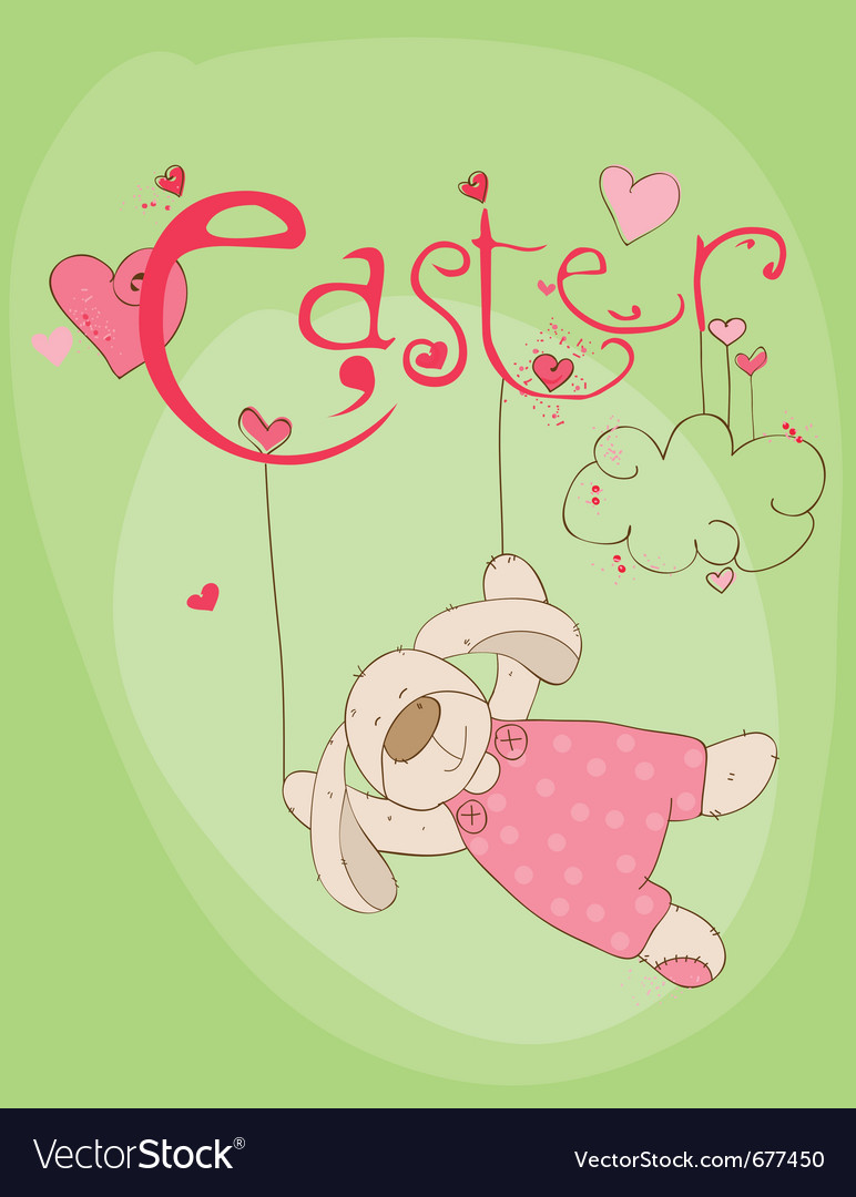 Cute easter rabbit vector | Price: 1 Credit (USD $1)