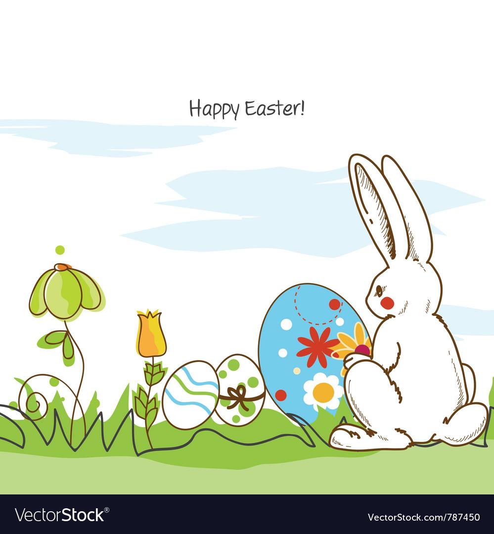Easter scene vector   Price: 1 Credit (USD $1)