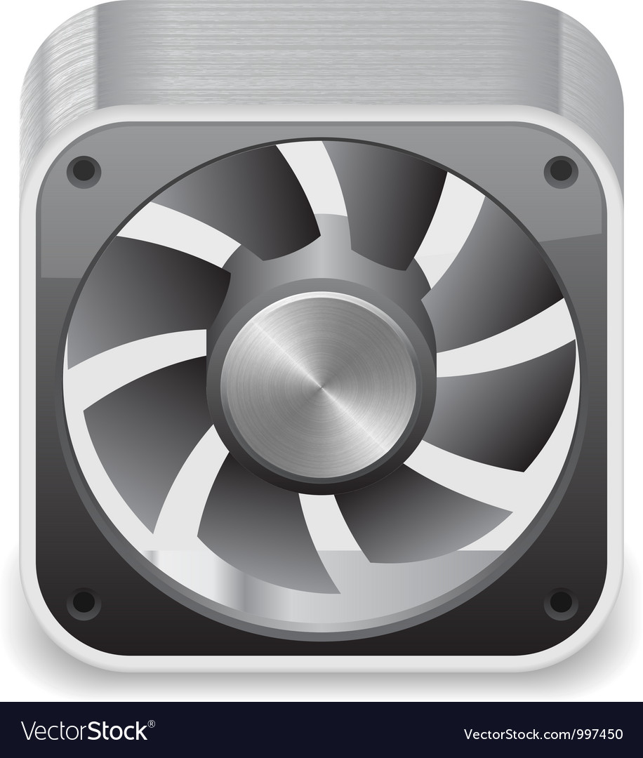 Icon for computer cooler vector | Price: 3 Credit (USD $3)