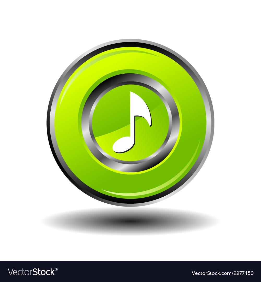 Round button music vector | Price: 1 Credit (USD $1)