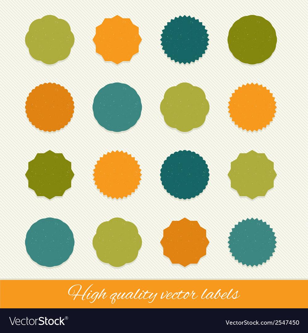 Set of circle labels vector | Price: 1 Credit (USD $1)