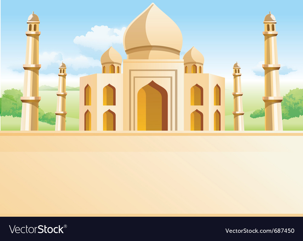 Taj mahal vector | Price: 3 Credit (USD $3)