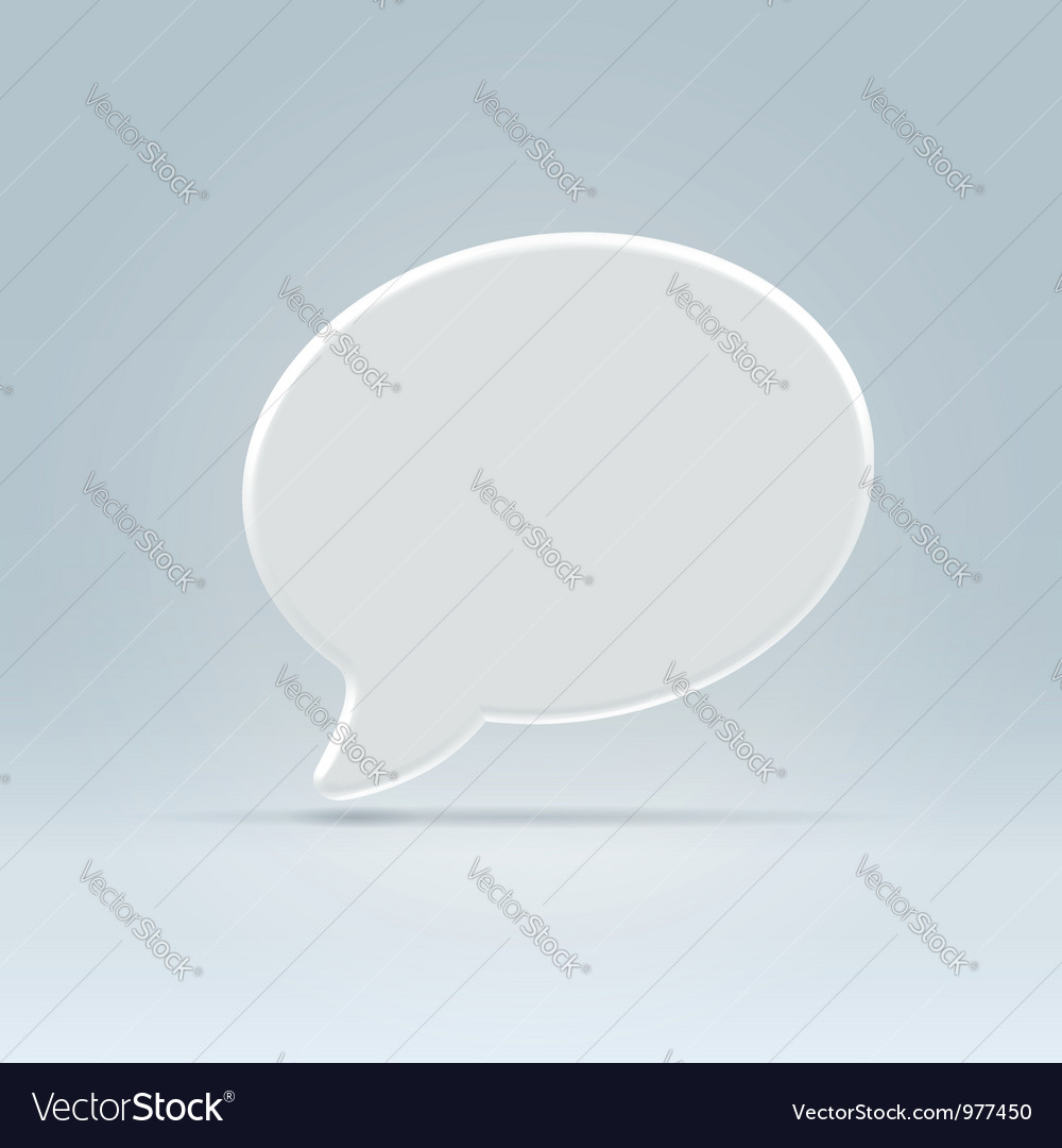 White plastic balloon icon over blue vector | Price: 1 Credit (USD $1)