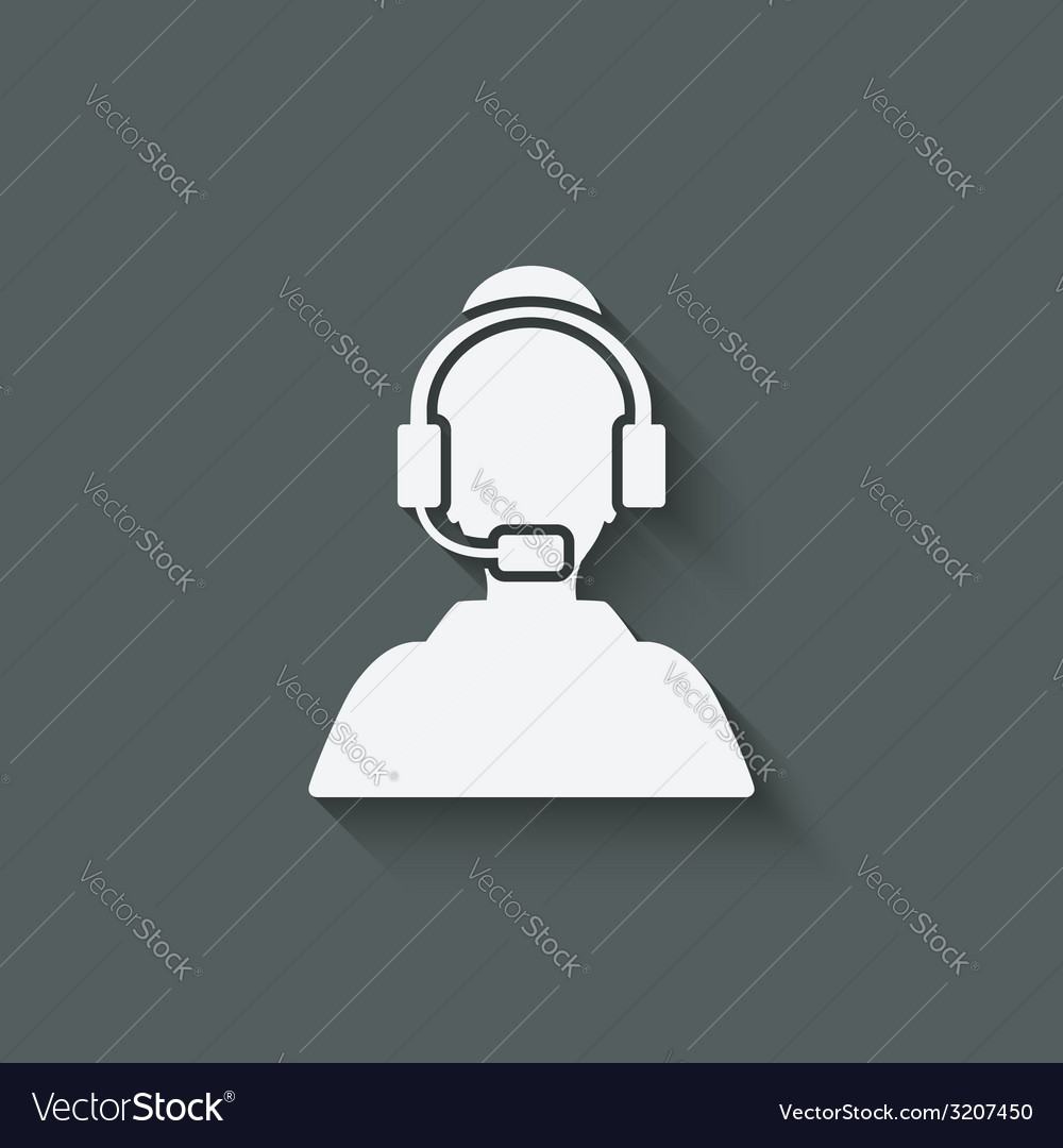 Woman call center support symbol vector | Price: 1 Credit (USD $1)