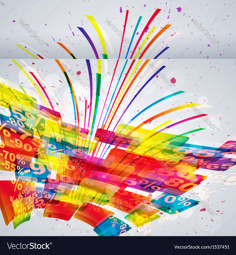 Abstract sale background vector | Price: 1 Credit (USD $1)