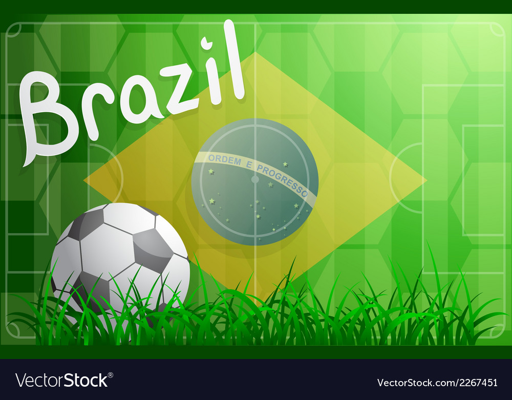 Brazil football world cup theme vector | Price: 1 Credit (USD $1)