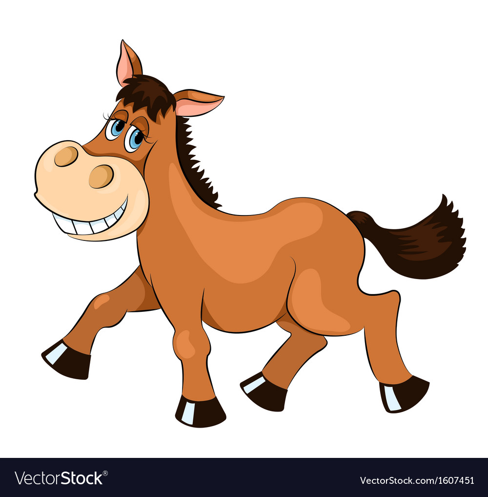 Brown mad horse vector | Price: 1 Credit (USD $1)