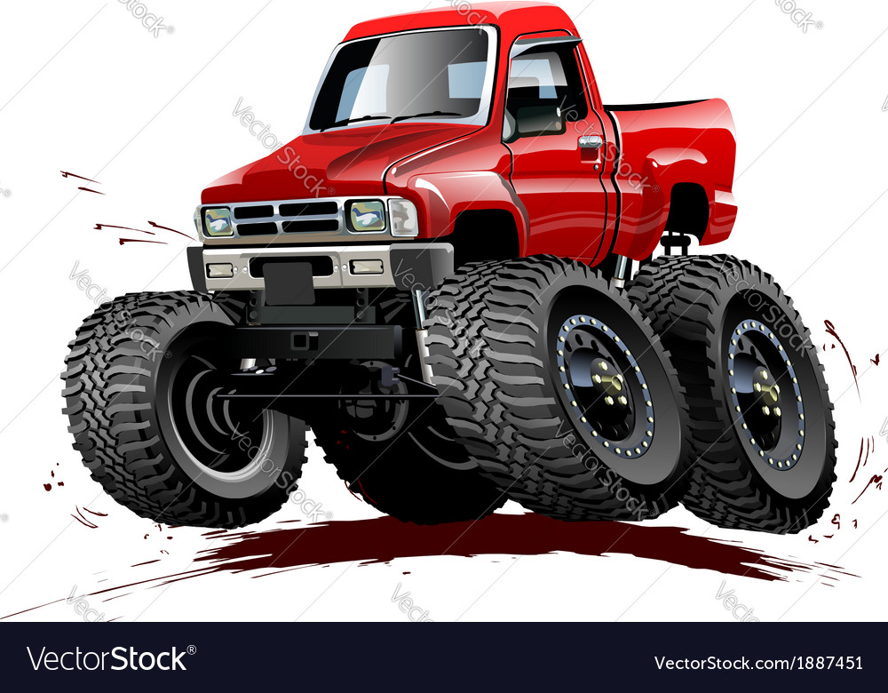 Cartoon monster truck one-click repaint vector | Price: 3 Credit (USD $3)