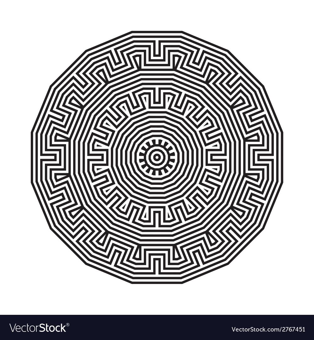 Celtic knot pattern card mandala amulet vector   Price: 1 Credit (USD $1)
