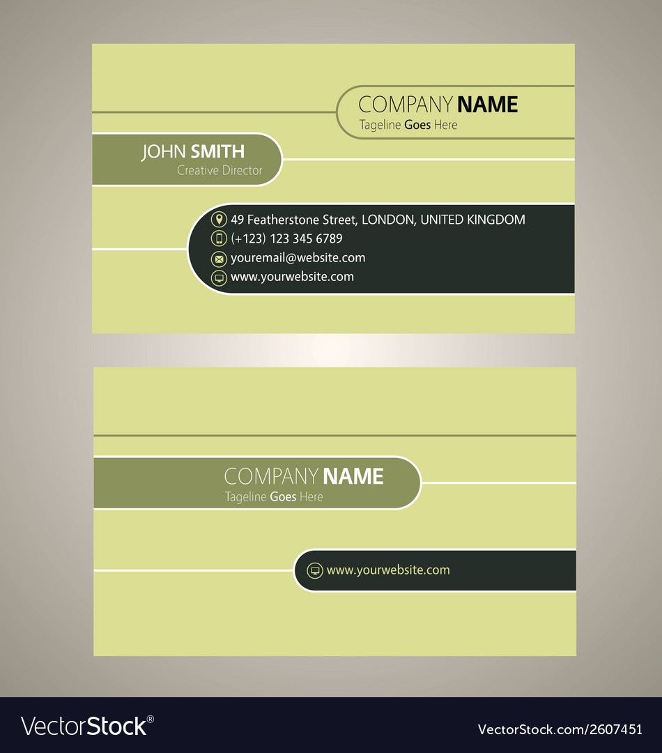 Cleanand simple business card vector | Price: 1 Credit (USD $1)