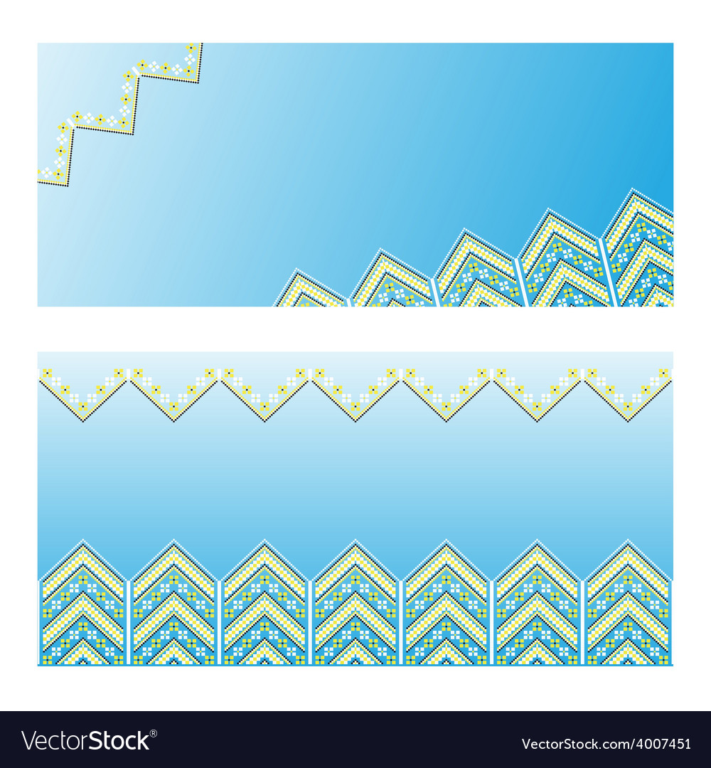 Set of ethnic ornament pattern vector | Price: 1 Credit (USD $1)