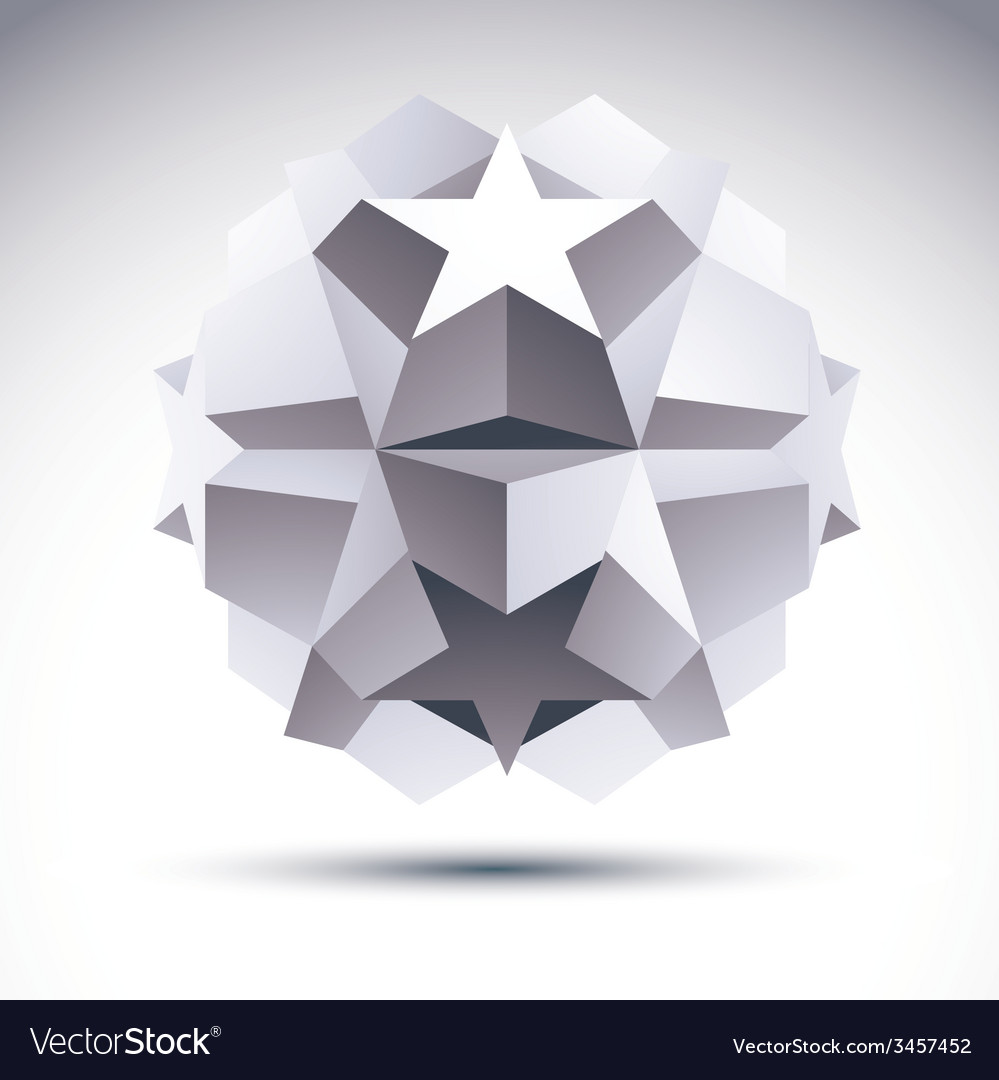 Abstract geometric 3d object modern digital vector | Price: 1 Credit (USD $1)