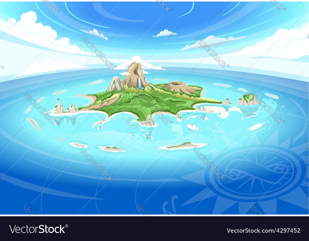 Adventure island  treasure island vector