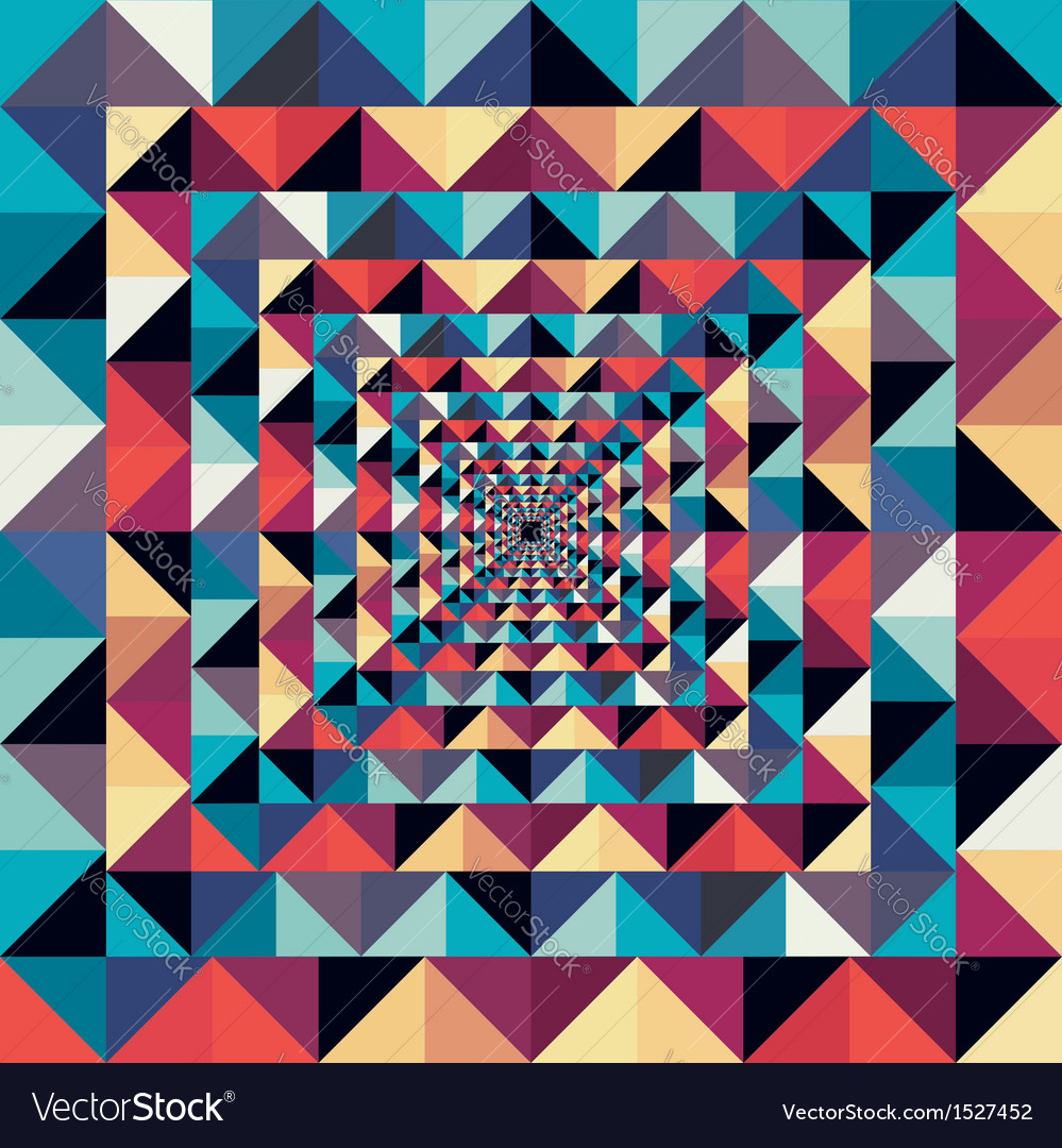 Colorful retro abstract visual effect seamless vector | Price: 1 Credit (USD $1)