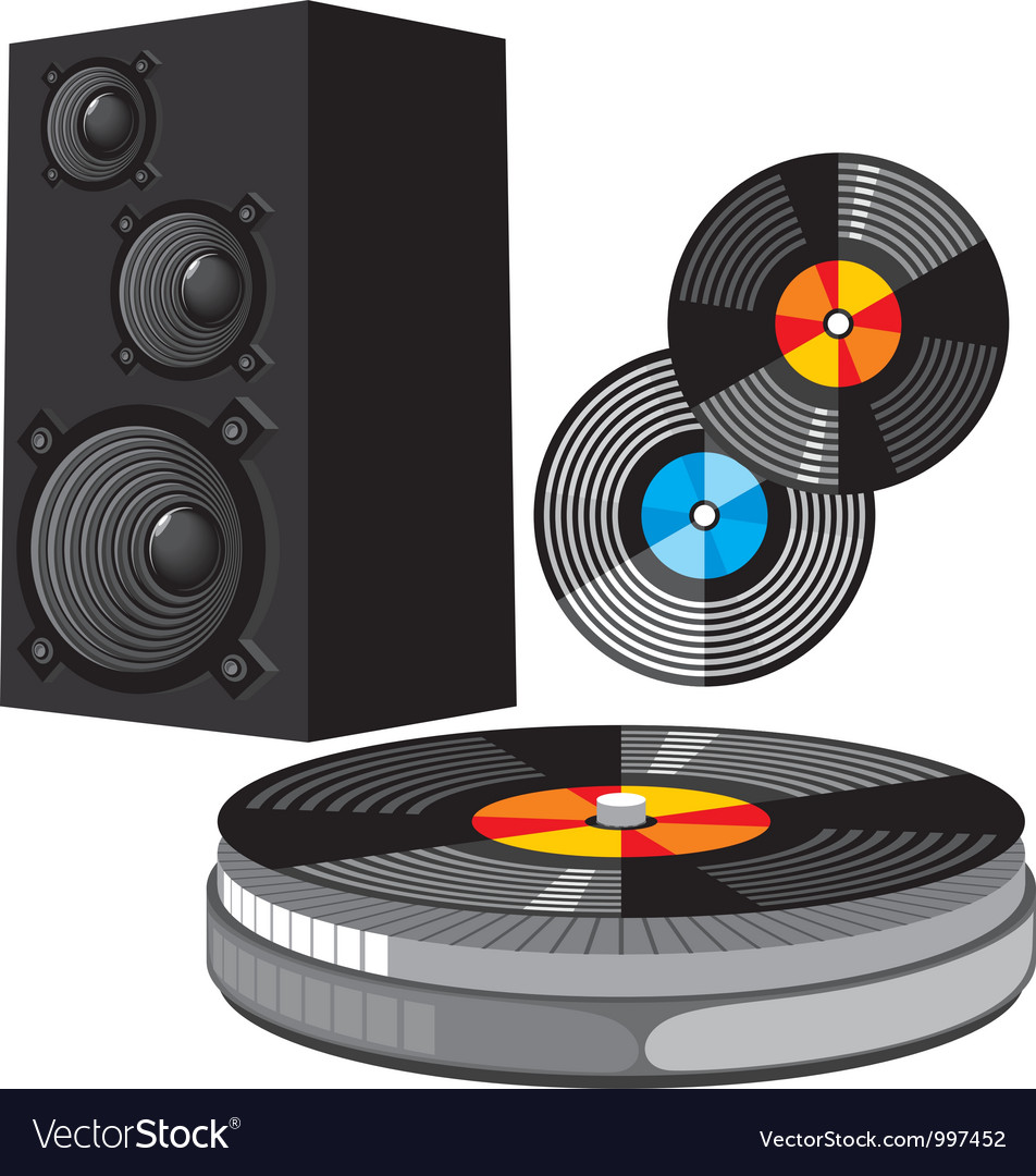 Disco equipment vector   Price: 3 Credit (USD $3)