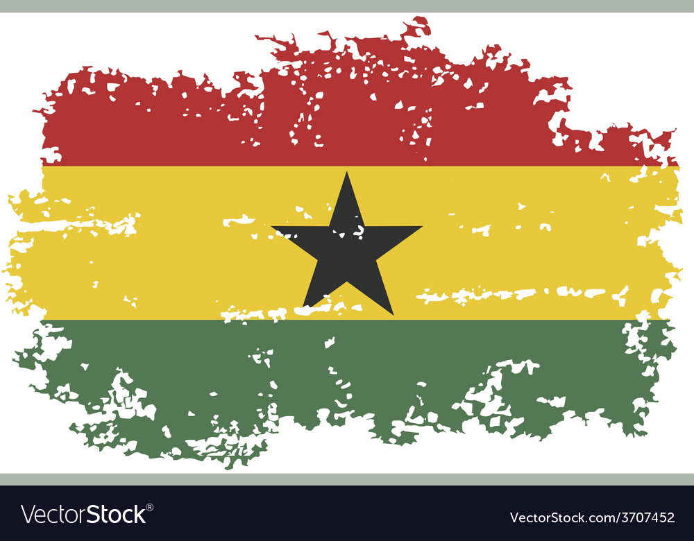 Ghanaian grunge flag vector | Price: 1 Credit (USD $1)