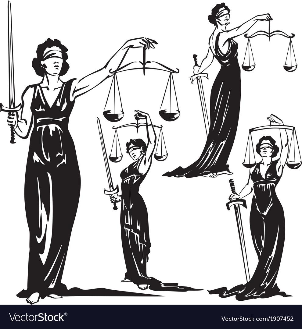 Lady justice vector | Price: 1 Credit (USD $1)