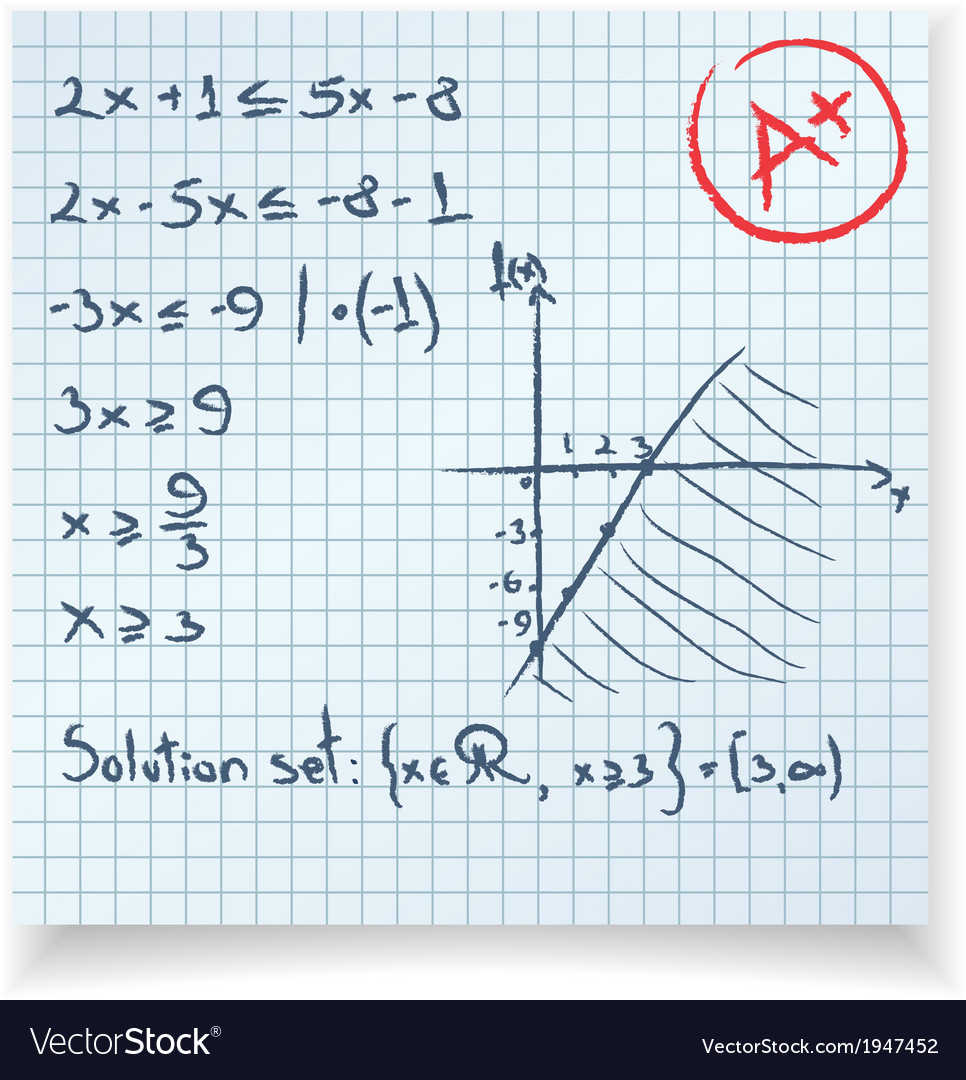 Math test and exam inequality vector   Price: 1 Credit (USD $1)