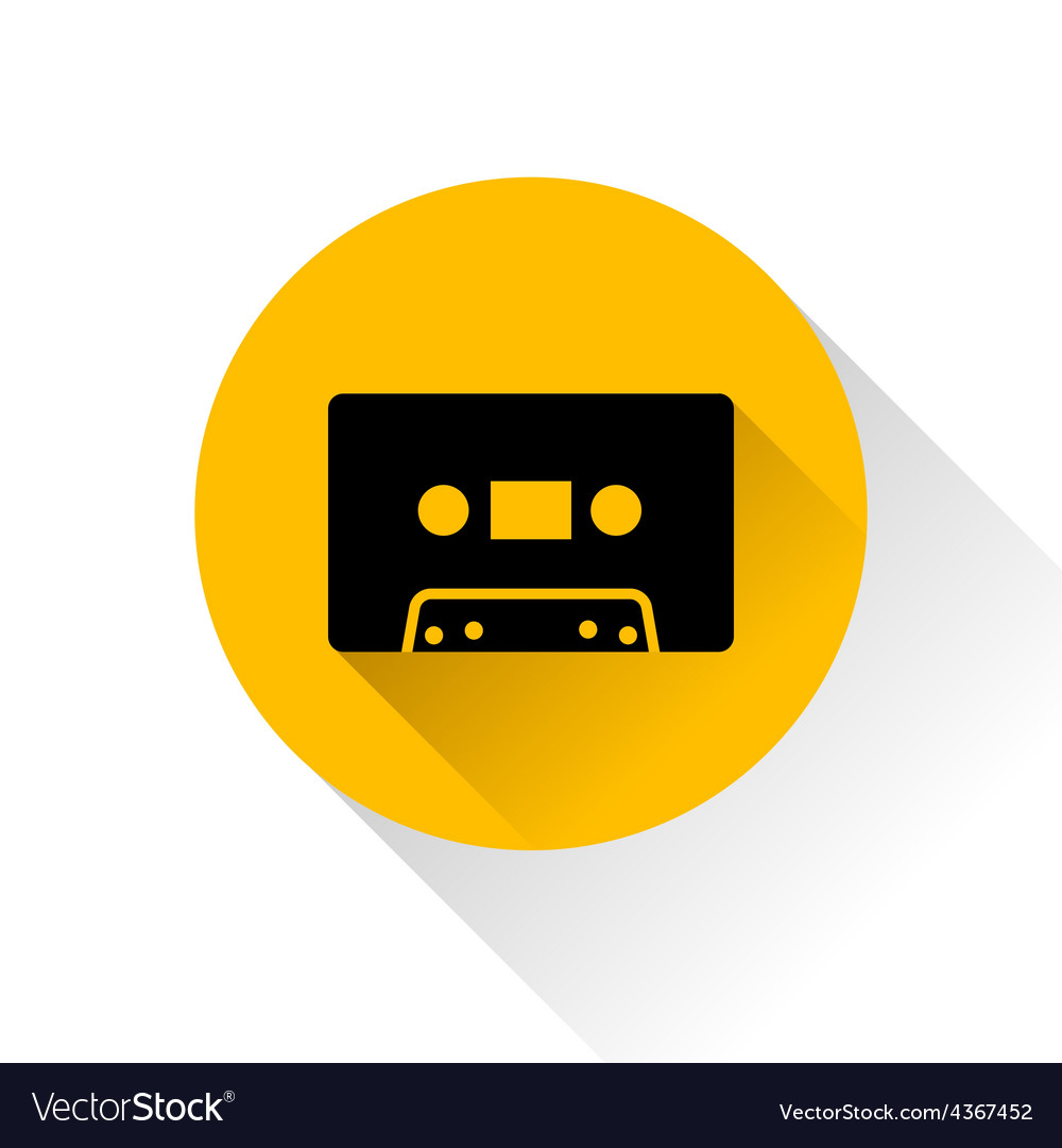 Modern audio icon with long shadow vector | Price: 1 Credit (USD $1)
