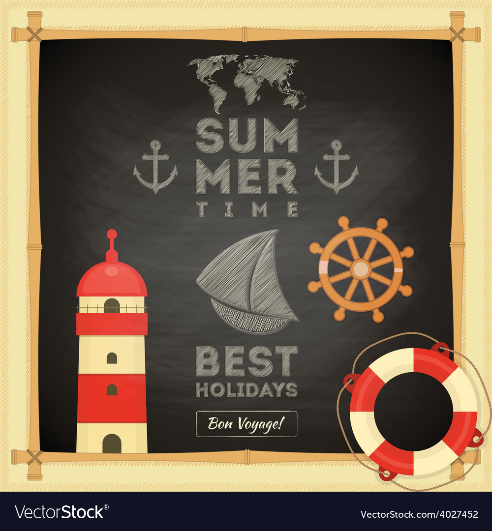 Summer card vector | Price: 1 Credit (USD $1)