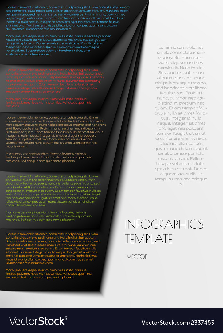 Black infographics on white background vector | Price: 1 Credit (USD $1)