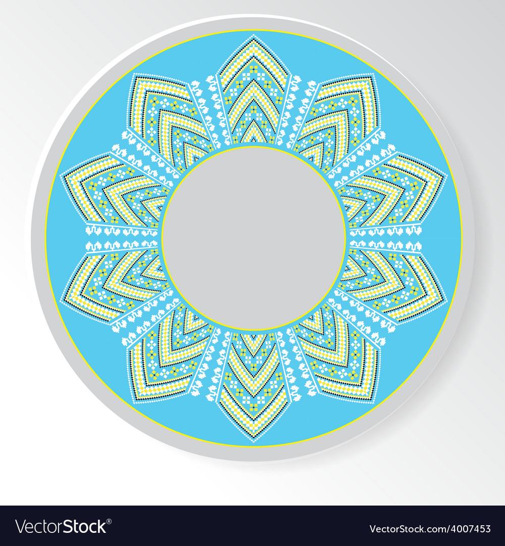 Circular ethnic oranament vector | Price: 1 Credit (USD $1)