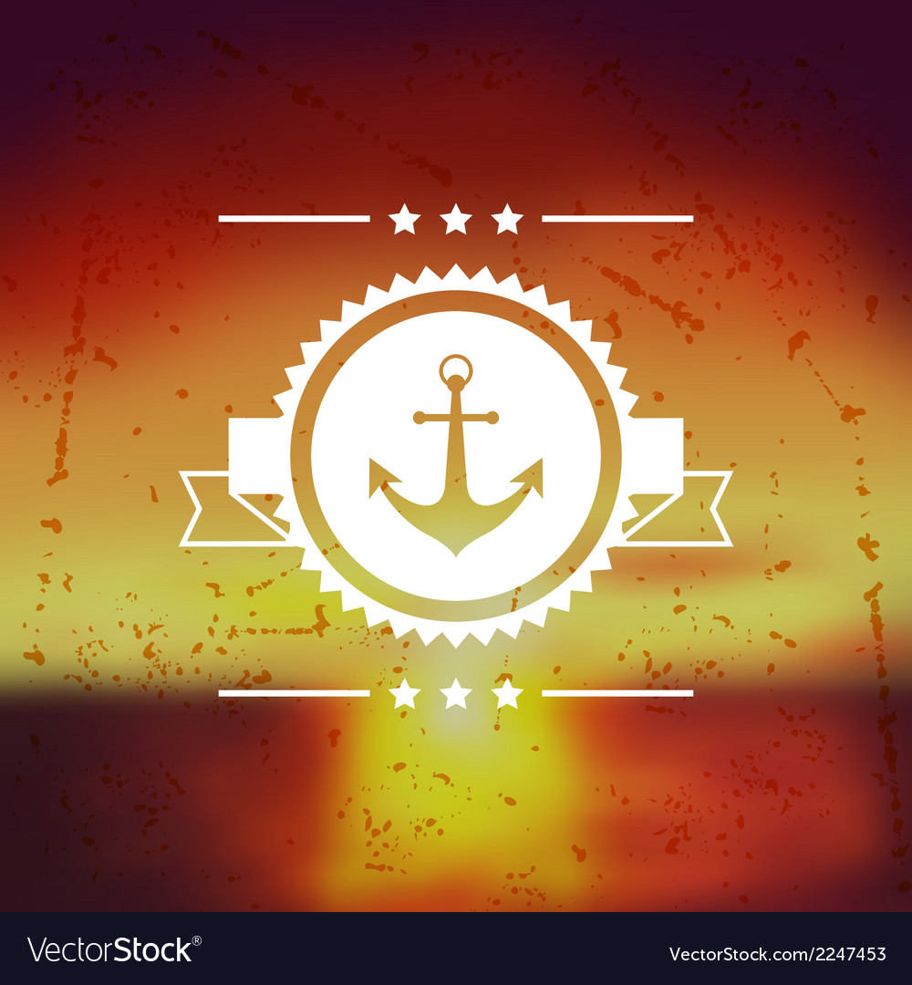 Design postcard with marine label and symbol vector | Price: 1 Credit (USD $1)