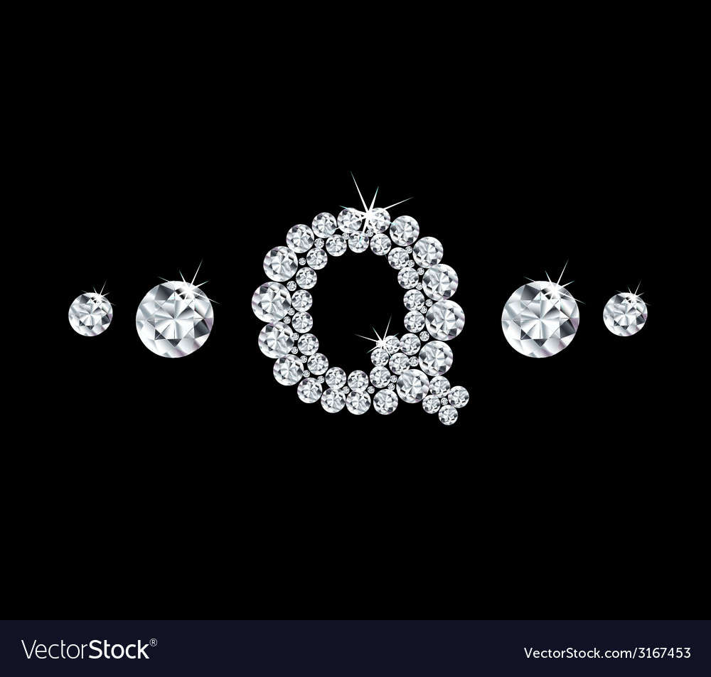 Diamond alphabetic letter q vector | Price: 1 Credit (USD $1)