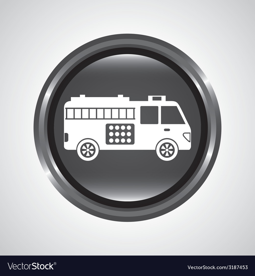 Fire truck design vector | Price: 1 Credit (USD $1)