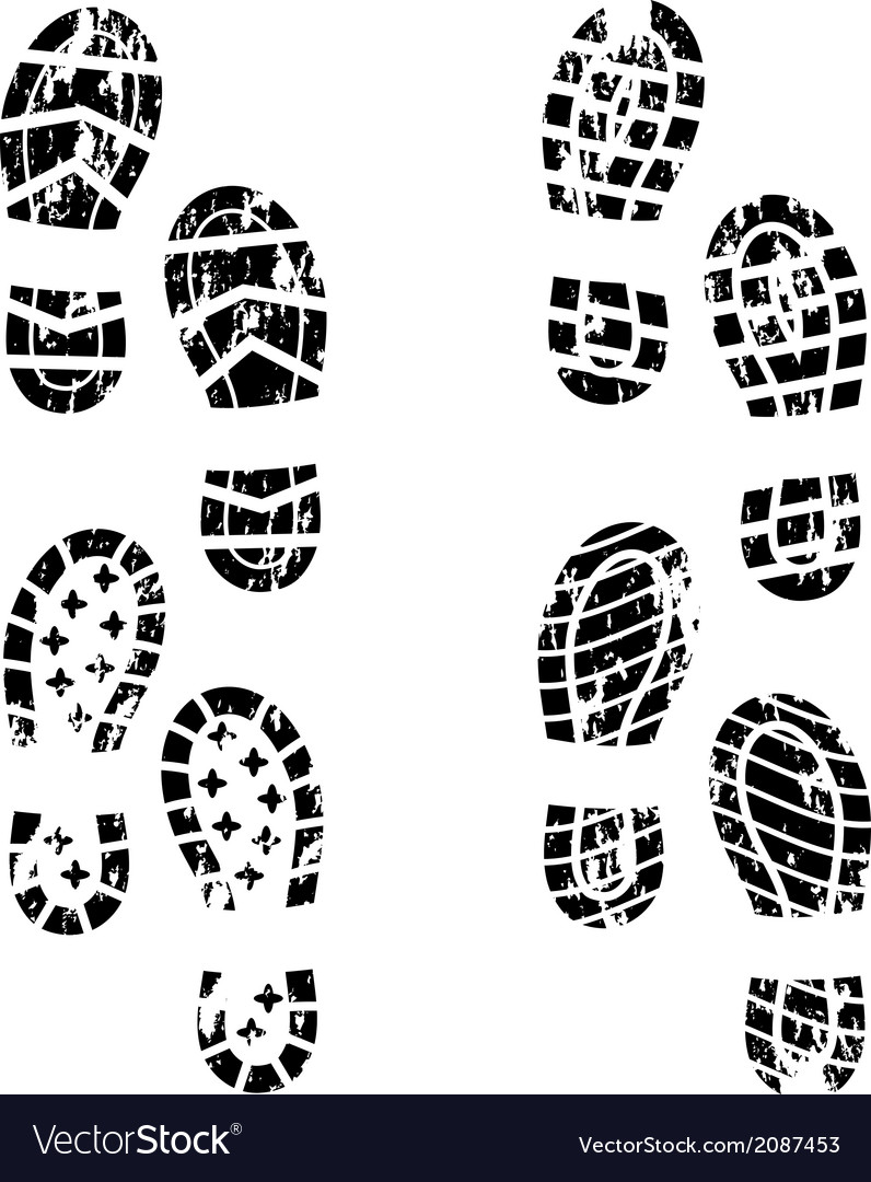 Grunge shoe print vector | Price: 1 Credit (USD $1)