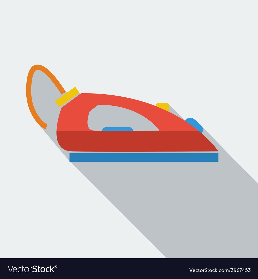 Modern flat design concept icon iron for ironing vector | Price: 1 Credit (USD $1)