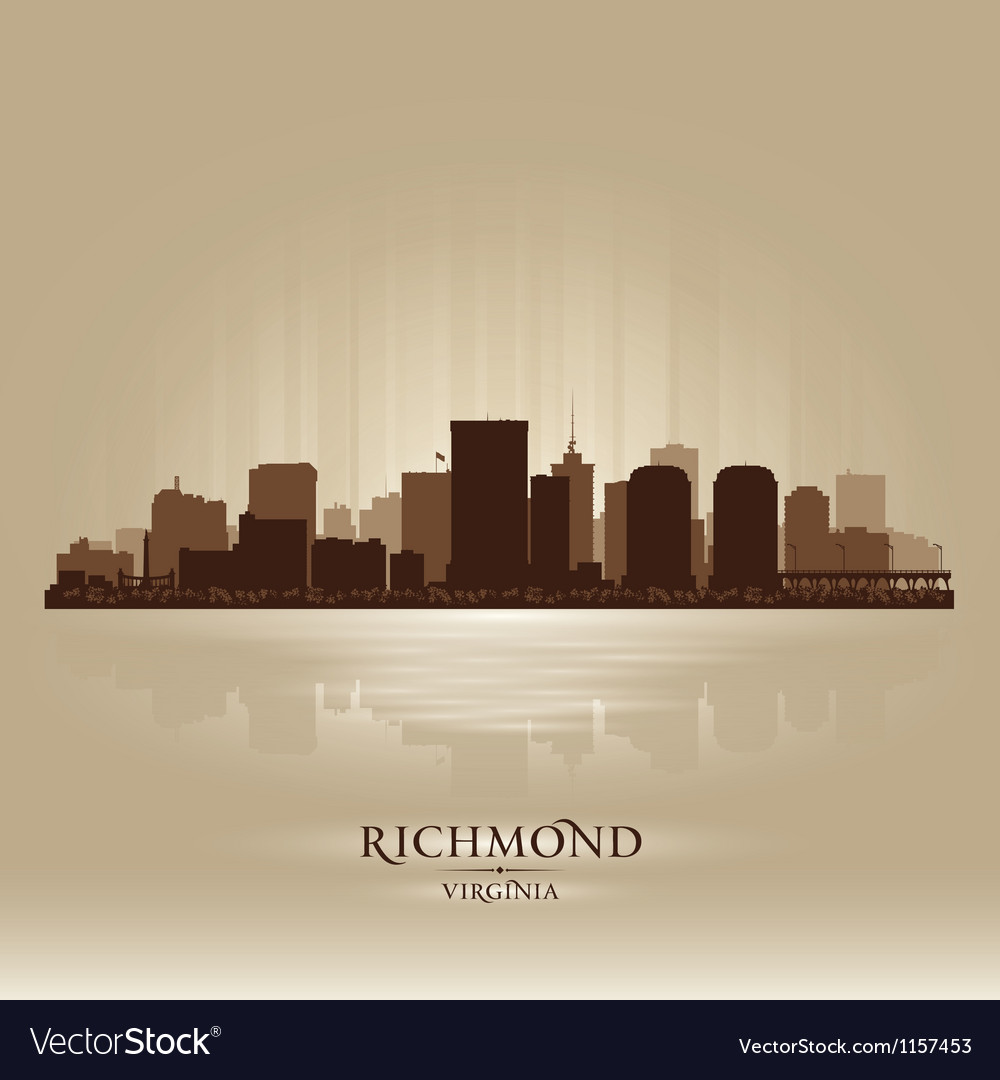 Richmond virginia skyline city silhouette vector | Price: 1 Credit (USD $1)
