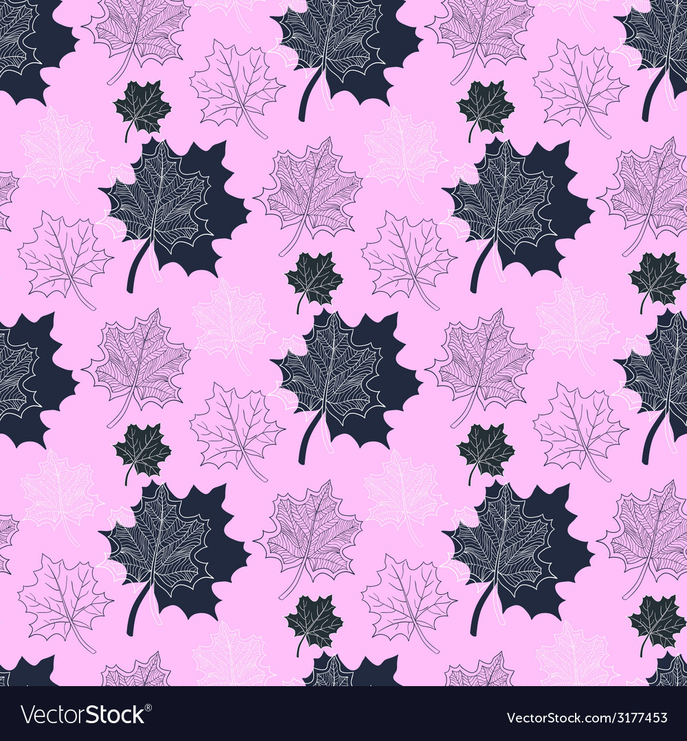 Seamless autumn patternabstract leaf on a pink vector | Price: 1 Credit (USD $1)