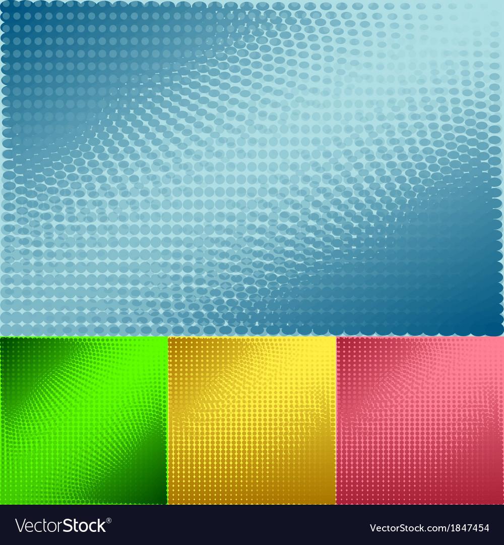 Background of halftone set vector | Price: 1 Credit (USD $1)
