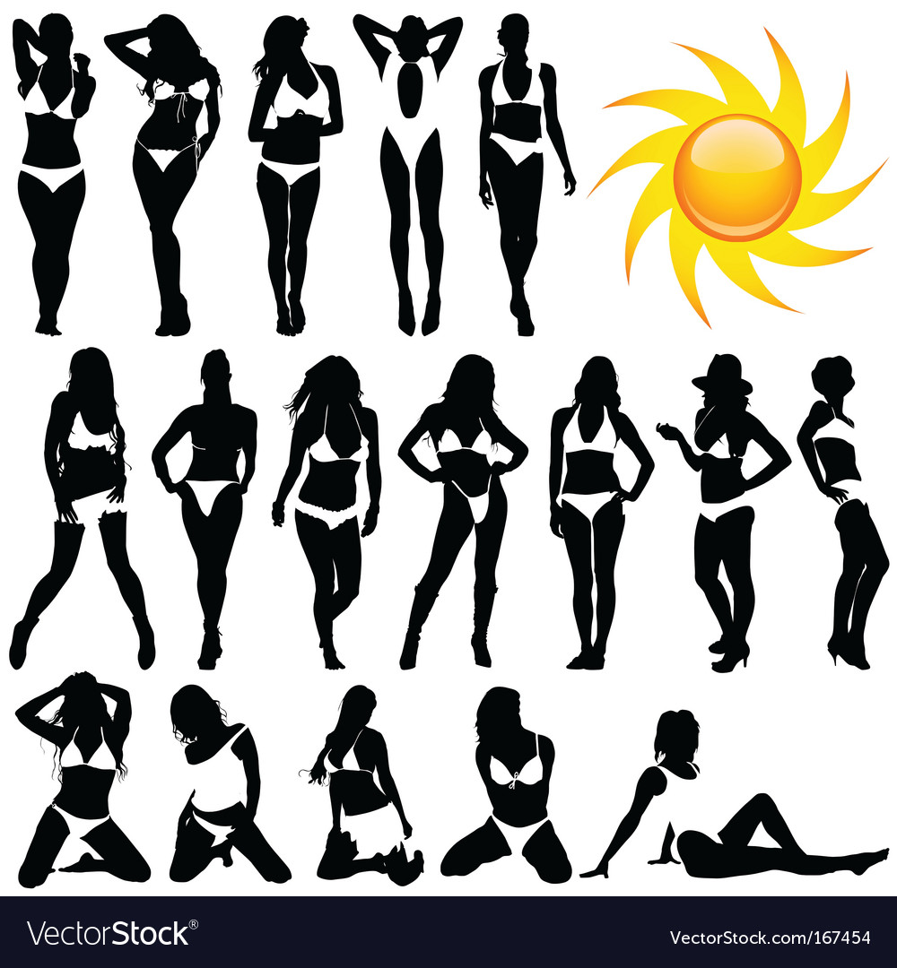 Bikini women vector | Price: 1 Credit (USD $1)