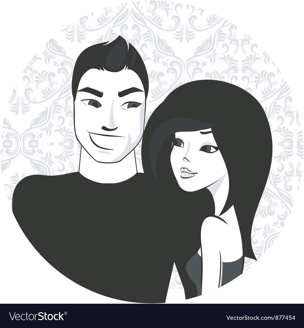 Boy and girl vector | Price: 3 Credit (USD $3)