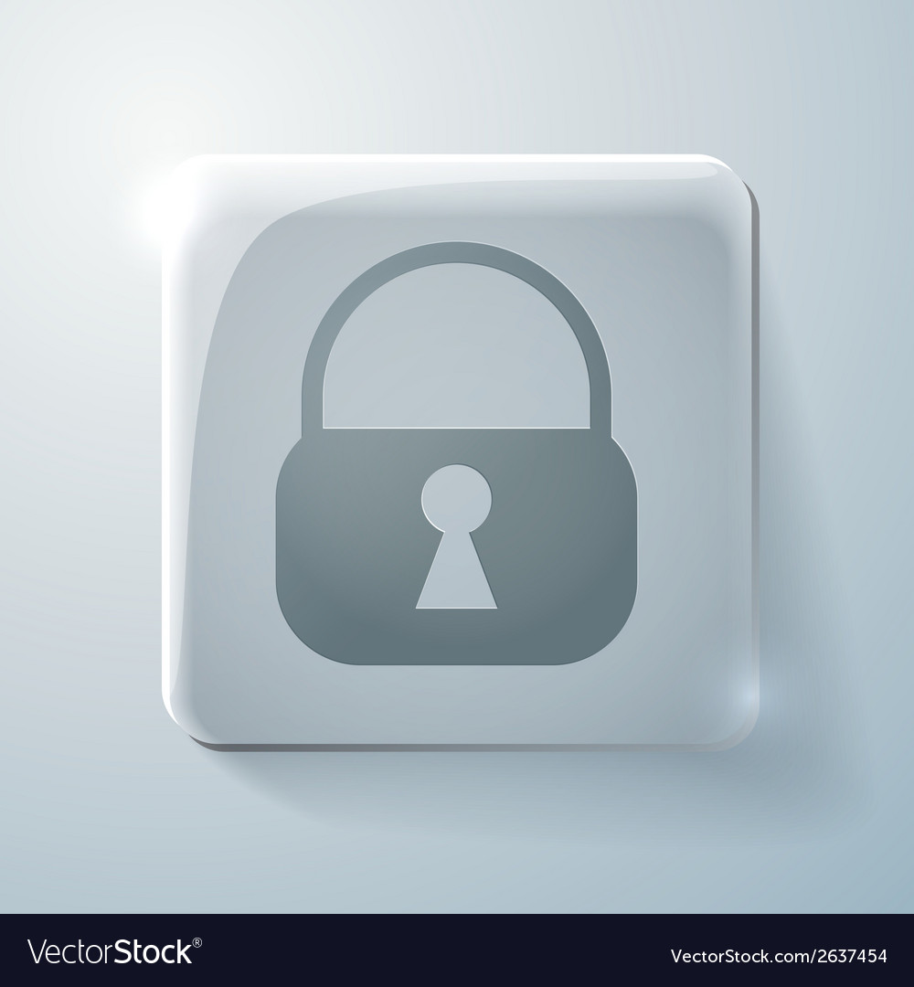 Circle icon with a shadow padlock vector | Price: 1 Credit (USD $1)