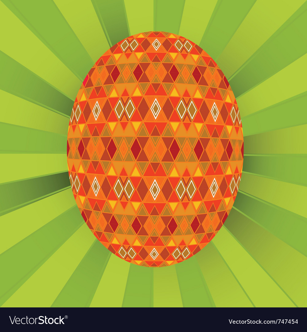 Colored egg vector | Price: 1 Credit (USD $1)