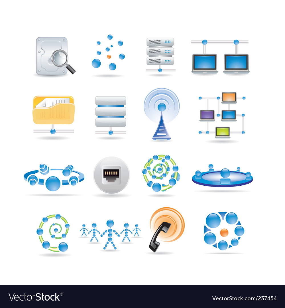 Connection and internet icons vector | Price: 3 Credit (USD $3)