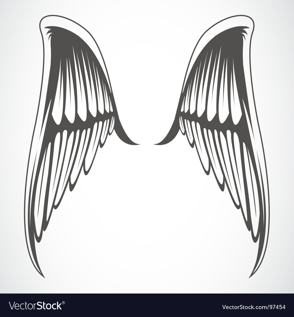 Iconic wings vector | Price: 1 Credit (USD $1)