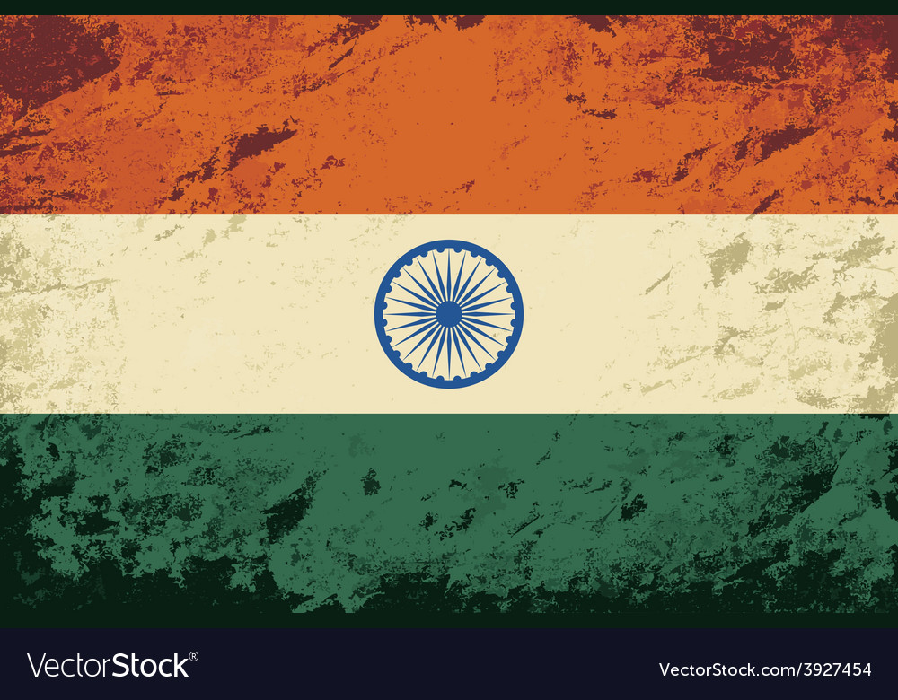 Indian flag grunge background vector | Price: 1 Credit (USD $1)