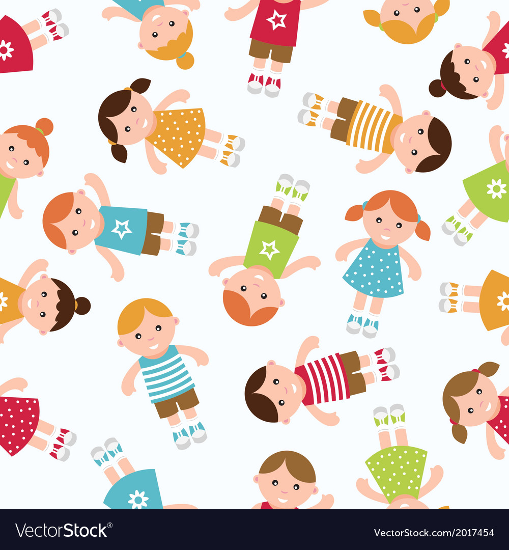 Kids seamless pattern vector | Price: 1 Credit (USD $1)