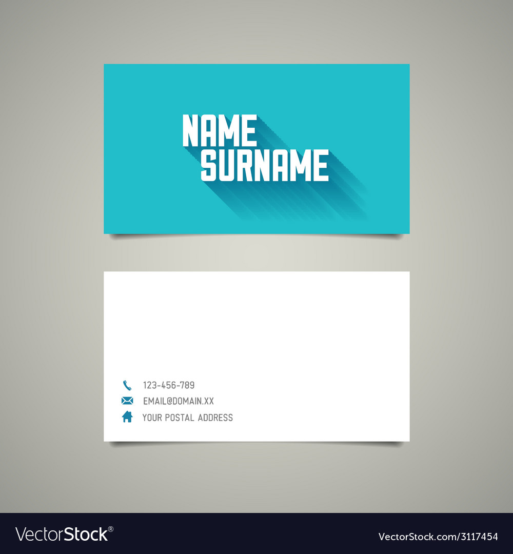 Modern simple business card template with long vector | Price: 1 Credit (USD $1)