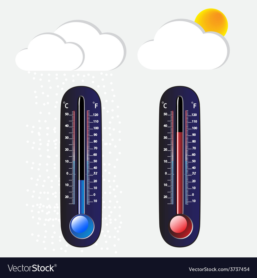 Thermometer cool and hot vector | Price: 1 Credit (USD $1)