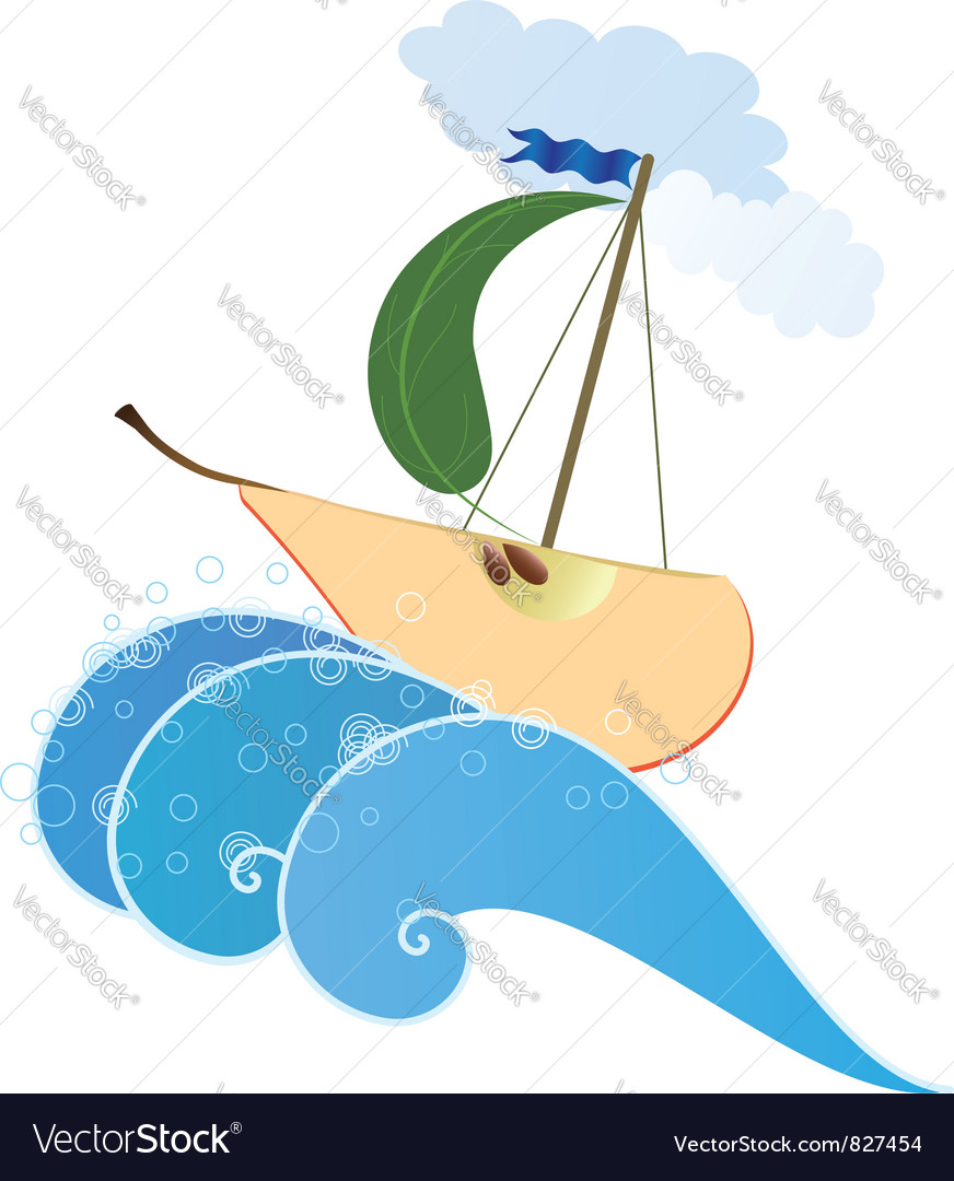 Stylized pear like ship vector | Price: 1 Credit (USD $1)