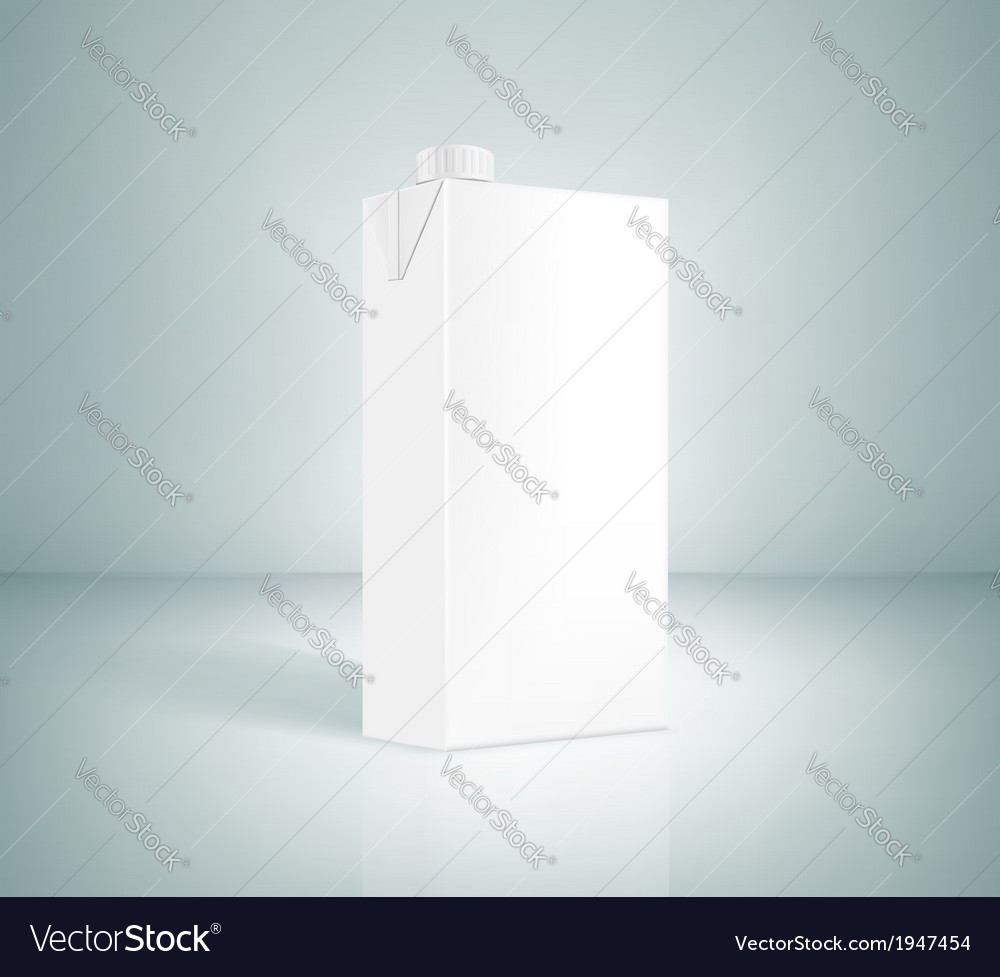 White box of juice on a gray background vector | Price: 1 Credit (USD $1)