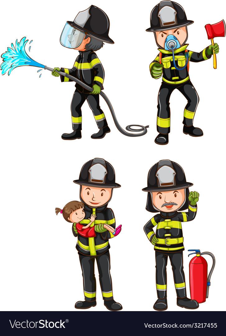 A simple sketch of firemen vector | Price: 1 Credit (USD $1)