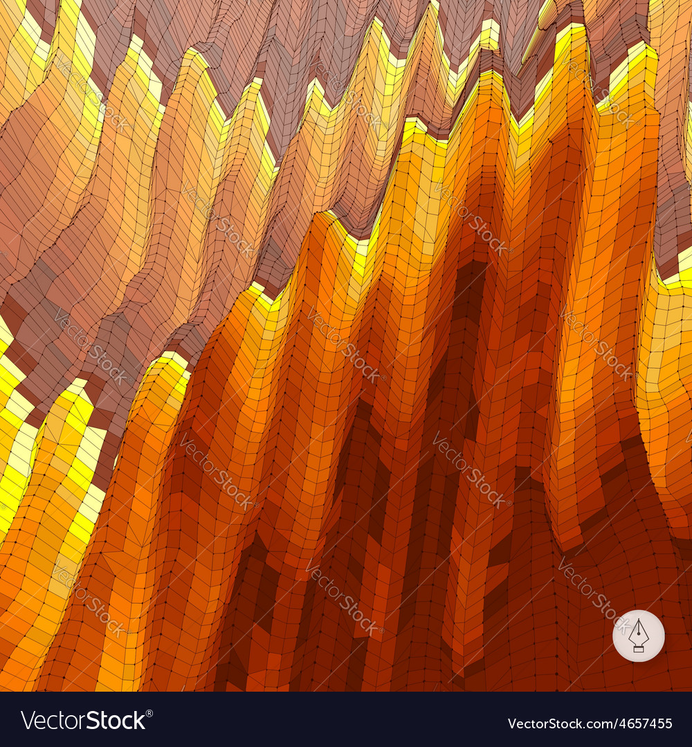 Abstract landscape background mosaic vector | Price: 1 Credit (USD $1)